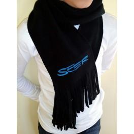 Fleece Schal, schwarz