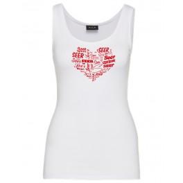 HERZ  Girly Shirt weiß -XL